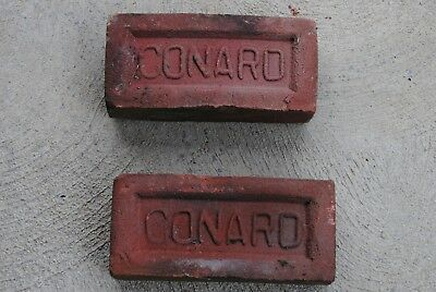2 Collectible Vintage Antique Authentic Old Conard Bricks Ohio Brick  Landscape