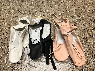 $10! Ballet Leather Splitsole and Hybrid by Bloch  Pnk Full Sole Wht Blk