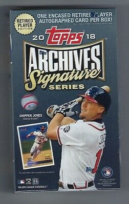 2018 Topps Archives Signature Series Retired Player Edition Sealed Baseball Box