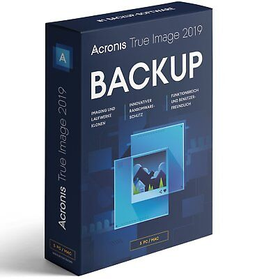 Acronis True Image 2019 5-Geräte -  Backup - Windows / MAC / Android - Box