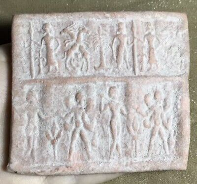 Indus Valley Terracotta Stunning Old Medieval Unique Art History Tablet