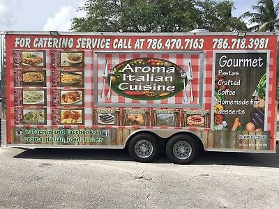 Food Truck 20 feet by 7 ft by 8 ft.Brand new, extra spacious, and fully equipped
