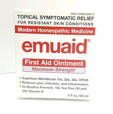 Emuaid MAX First Aid Ointment 2oz Skin Eczema Acne Dermatitis Psoriasis Exp 2/20