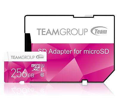 256GB Team Color microSDXC CL10 UHS-I Memory Card w/SD Adapter