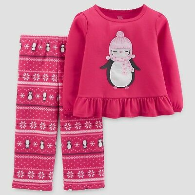 1c3465bf60 Carter s Just One You Girls Penguin Long Sleeve 2 Piece Pajamas 18 Months  NWT