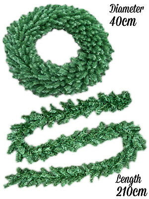 Christmas Canadian Garland Wreath Xmas Decoration Artificial Snow Tipped Pinecon