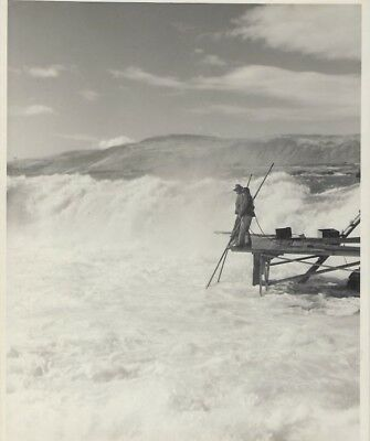 Native American Photos - Chief Tommy Thompson Fishing At Celilo Falls
