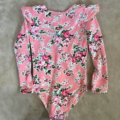 Rock your baby maeve pink leotard size M/4-6 EUC