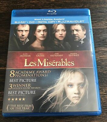 Les Miserables Blu-Ray/DVD Only Free Shipping A6
