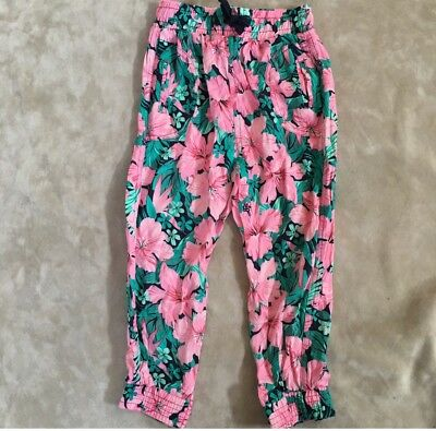 Cotton on kids floral pants with pockets EUC size 3