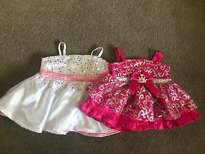 Build A Bear Dress White Pink And Sparkly