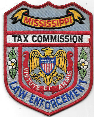"""Police Patch: Mississippi Law Enforcement Tax Commission Patch Measures 4"""" X 5"""""""