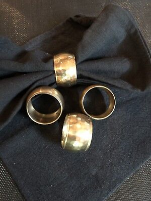 Set Of Four Brass Napkin Rings