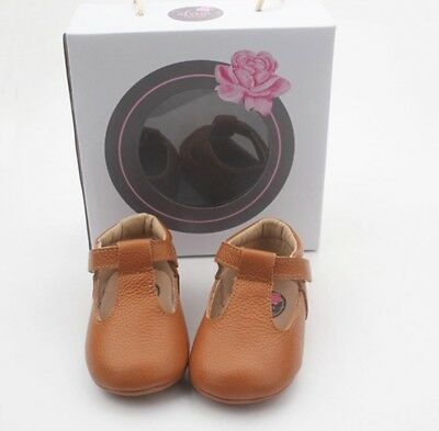 Baby Girl Shoes T-bars Leather