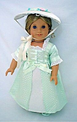 """Doll Clothes 18"""" Colonial Party Summer Dress Fits American Girl Dolls"""