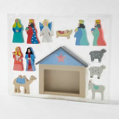 NEW Christmas Wooden Nativity Scene
