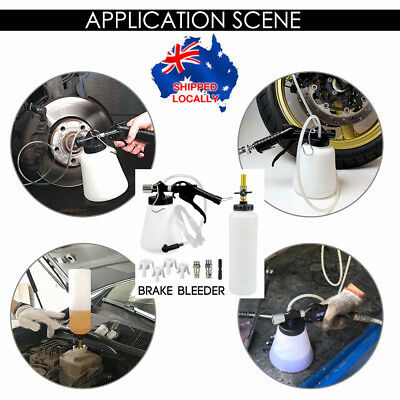 1L Air Brake Bleeder Kit Clutch Vacuum Bleeding Extractor Fluid Fill 4X Adapter