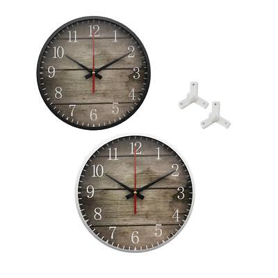 Vintage Iron Silent Wall Clock Home Antique Shabby Chic Retro Kitchen Home Decor