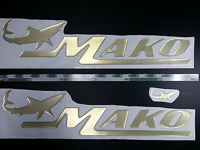 """mako boat emblem 22.5"""" GOLD + FREE FAST delivery DHL express - stickers decal"""