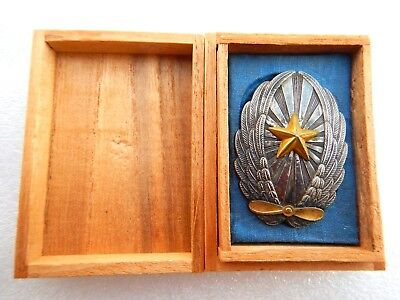 VERY RARE !1920-1945 years Imperial Japan Army Officer Pilot Badge in silver.BOX