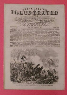 Frank Leslie's  3/15/1864 Civil War Escape from Libbly Prison  South Carolina