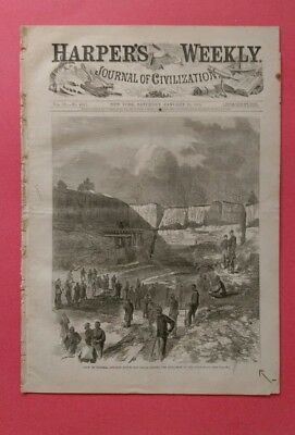 Harper's Weekly 1/21/1865  Occupation of Savannah  Georgia