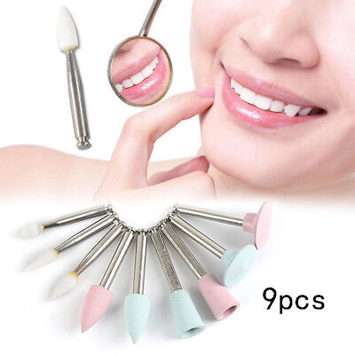 9PCS RA0309 Dental Light-cured Composite Polishing Tool for Low-speed Handpiece