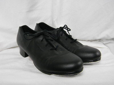 Bloch Techno Shockwave Tap Shoes #01 Black Leather Lace Up Women's 9 Medium