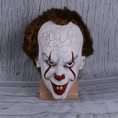Movie Stephen King's IT Clown Pennywise Halloween Cosplay Scary Mask Costume US