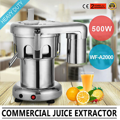 Food grade StainlessSteel 550W Fruit Juice Extractor 100~120KG/h For commercial