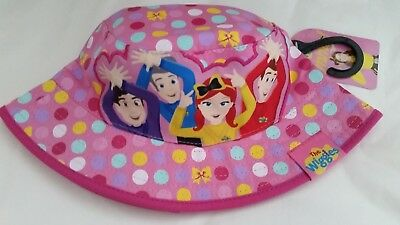 THE WIGGLES EMMA WIGGLE Girl licensed bucket hat pink NEW age 2-4 , up to 53cm