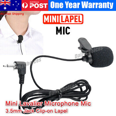Clip-on Lapel Mini Lavalier Mic Microphone 3.5mm For Mobile Phone PC Recording G