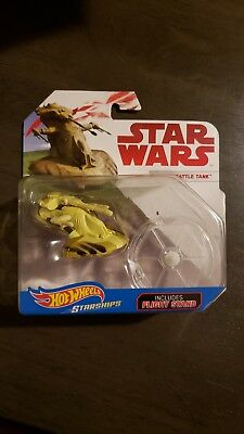 StarWars Hot Wheels Starships AAT Battle Tank with Flight Stand New in Package