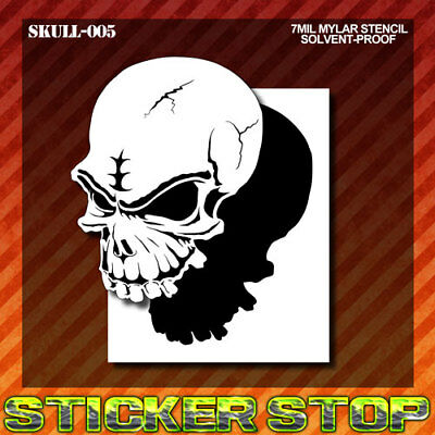 SKULL MYLAR STENCIL (Airbrush, Craft, Re-Usable)