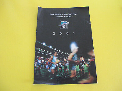 2001 Port Adelaide Football Club Annual Report 16 pages