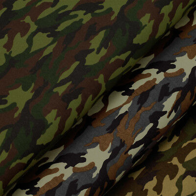 Cotton Fabric FQ Military Soldier Hunter Woodland Desert Camouflage Crafts VA63