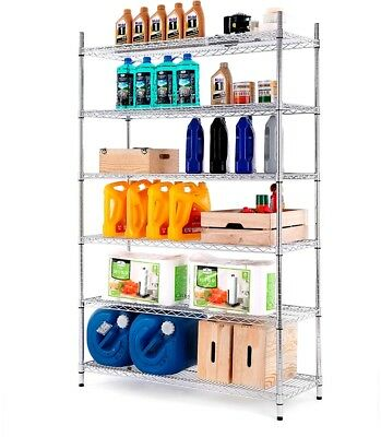 Style Selections 72-in H x 47.7-in W 6 Shelf Steel Freestanding Shelving Unit