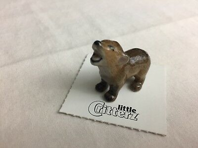 """Little Critterz """"Howler"""" Coyote Pup LC102 Hand Painted Figurine"""