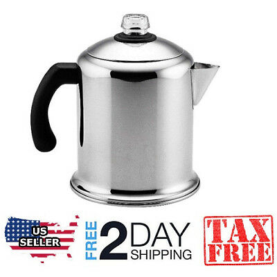 New Stainless Steel Yosemite Coffee Maker Brewing 8 Cup Stovetop