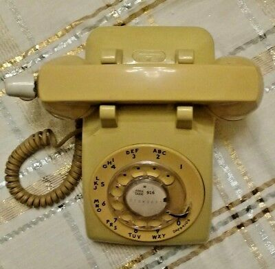 Rotary Telephone Yellow/gold Color