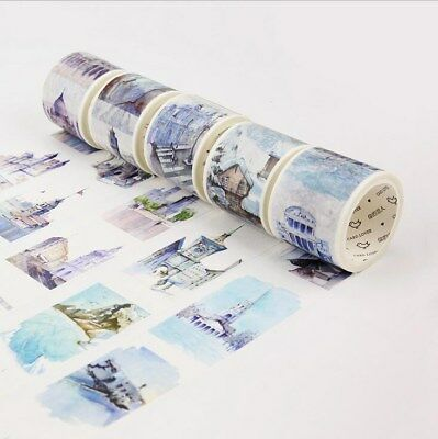 Cute Jewelry Crystal Adhesive Washi Sticky Paper Tape Diary Decor Sticker V8W5