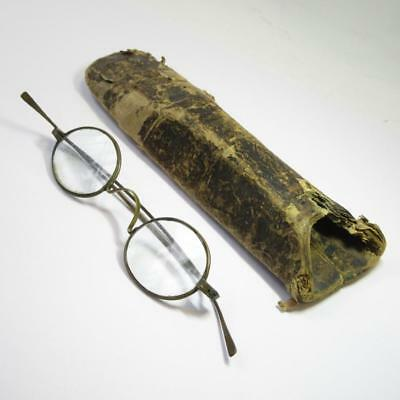 Crystal Brand Antique Oval Victorian Reading Eyeglasses Spectacles in Hard Case