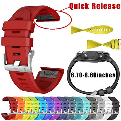 Silicone Quick Release Wirstband Replacement Watch Strap For Garmin Fenix 5 Plus