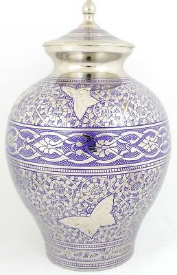 Adult Cremation Urn for ashes, Large Memorial Funeral Indigo Ash Container- SALE