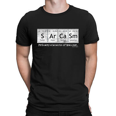SARCASM PERIODIC TABLE ELEMENTS OF HUMOUR Mens Funny T-Shirt Novelty Joke Tee