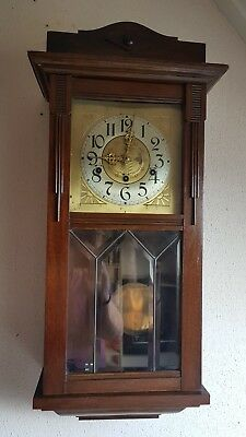 0126- Antique German Mauthe Westminster wall clock