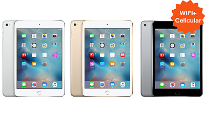 UNLOCKED Apple iPad Mini 2 3 4 ✤WIFI+LTE✤ 16GB 32GB 64GB 128GB Black White Gold