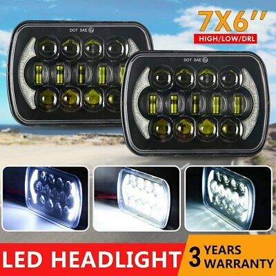 Pair LED UPGRADE HEAD LIGHT 5X7 6X7INCH HEADLIGHT REPLACEMENT HIgh low beam H4