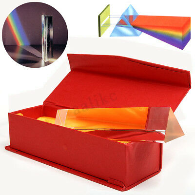 15cm Optical Glass Triple Triangular Prism Physics Refractor Light Spectrum