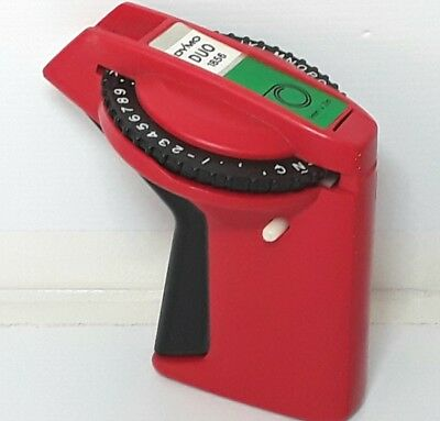Dymo Duo Label Maker Rotary Letters Plastic Red Vintage Flawed